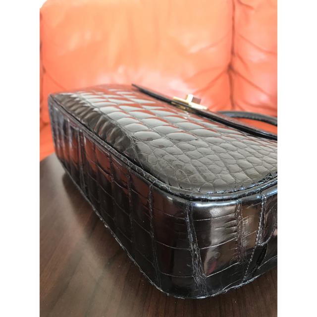 Crocodile(クロコダイル)のサンタゴスティーニ シャイン クロコダイル ハンドバッグ レディースのバッグ(ハンドバッグ)の商品写真