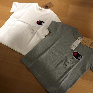 Champion - 新品 チャンピオン キッズ 130 サガラ刺繍 Tシャツ 二枚