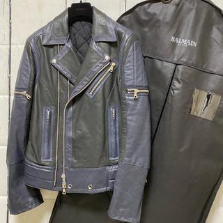 バルマン(BALMAIN)の新品未使用希少バルマンダブルライダースジャケット羊革 レザージャケット(ライダースジャケット)