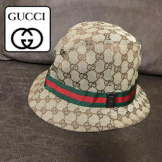 Gucci - 美品♡GUCCI  男女兼用 大人気デザイン ハット 帽子  GG柄