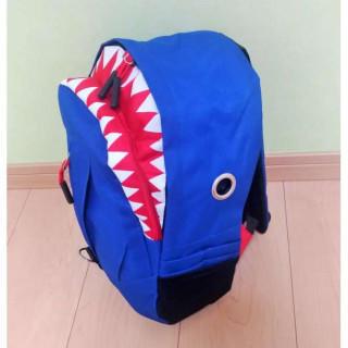 【ブルー】かっこいい サメ 男女兼用 キッズ リュック 通園 通学 遠足 (リュックサック)