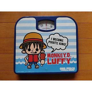 かわいい(´꒳`) ルフィ 体重計