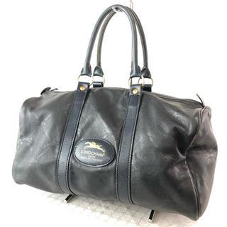 ロンシャン(LONGCHAMP)の❤️決算セール❤️ロンシャン バッグ ミニボストンバッグ レザー 本革 黒(ボストンバッグ)