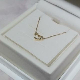 AHKAH - 新品同様 アーカー K18 アルモイナハート ダイヤ ネックレス