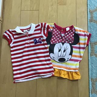 ミニーマウス(ミニーマウス)のディズニー ミニーちゃん Tシャツ 90 95(Tシャツ/カットソー)