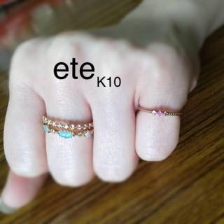 ete - ete ピンキーリング ルビー K10