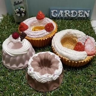 SOLD◇モルタルケーキ鉢◇Aセット(プランター)