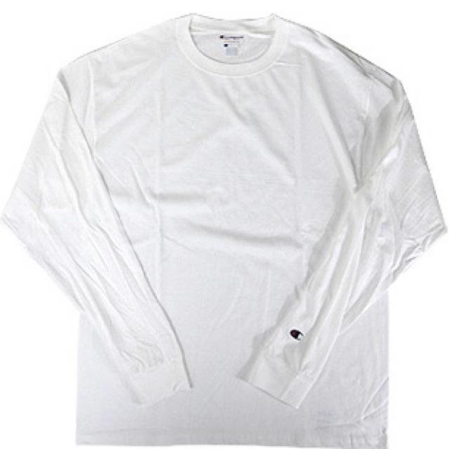 Champion(チャンピオン)の【新品】チャンピオン Champion 長袖ロンT ホワイト メンズのトップス(Tシャツ/カットソー(七分/長袖))の商品写真