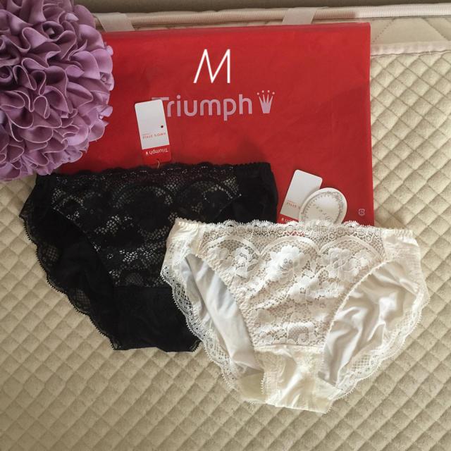 Triumph(トリンプ)の新品★M  トリンプ アモスタイル クラシカルレース ショーツ2枚 レディースの下着/アンダーウェア(ショーツ)の商品写真