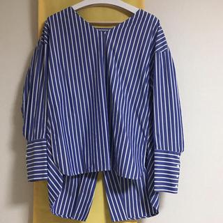 ENFOLD - エンフォルド デザインシャツ 青系