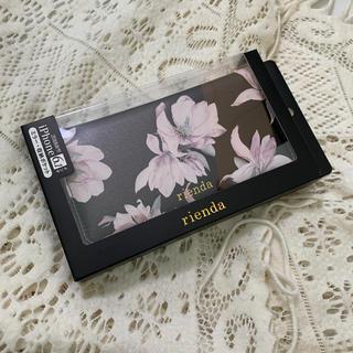 リエンダ(rienda)の新品 rienda iPhoneXR (6.1インチ) 手帳型ケース  黒(iPhoneケース)