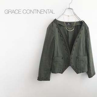 GRACE CONTINENTAL - ★グレースコンチネンタル★ノーカラージャケット