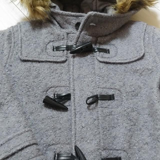 GU(ジーユー)の《冬物セール》GUブークレダッフルコート  キッズ/ベビー/マタニティのキッズ服女の子用(90cm~)(コート)の商品写真