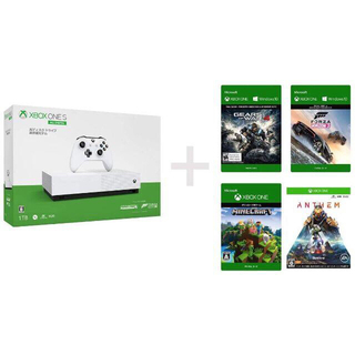 エックスボックス(Xbox)のXbox One S 1TB All Digital Edition+ソフト4本(家庭用ゲーム機本体)