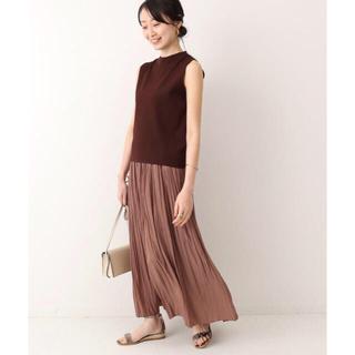 ノーブル(Noble)のNOBLE 新品✨ ニュアンスプリーツマキシスカート IENA(ロングスカート)