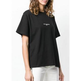 ステラマッカートニー(Stella McCartney)のステラマッカートニー コットン ロゴ Tシャツ 黒(Tシャツ(半袖/袖なし))