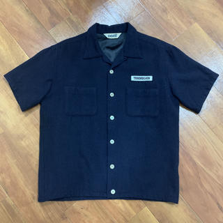 TENDERLOIN - TENDERLOIN 傑作 希少 ワッペンロゴ ネイビー ウールシャツ 半袖