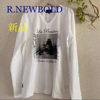 アールニューボールド(R.NEWBOLD)の新品!R.NEWBOLD 長袖Tシャツ カットソー 白Lメンズ  ロンT (Tシャツ/カットソー(七分/長袖))
