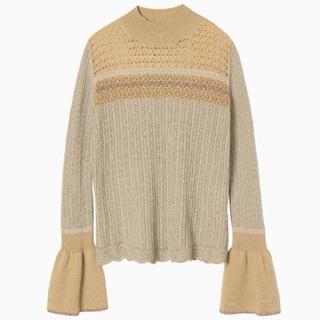 マメ(mame)のmame  ☆ 2018SS Nostalgic Pattern Knit(ニット/セーター)