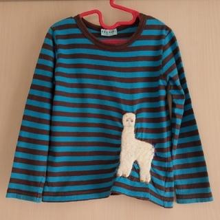 ハッカキッズ(hakka kids)のハッカキッズ ボーダー アップリケ ロンT 長袖 Tシャツ 110 120(Tシャツ/カットソー)