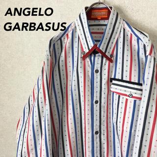 アンジェロガルバス(ANGELO GARBASUS)のANGELO GARBASUS 総柄 長袖 シャツ ビッグシルエット 日本製(シャツ)