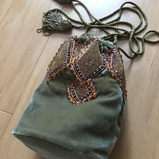 SHIPS - キャセリーニ*ベルベット刺繍バッグ