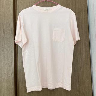 薄ピンク ポケットTシャツ(Tシャツ/カットソー(半袖/袖なし))
