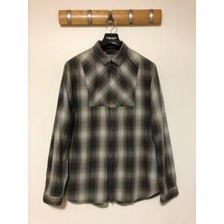 UNDERCOVER - UUアンダーカバー×ユニクロコラボチェックシャツ長袖◆UNDERCOVERグレー