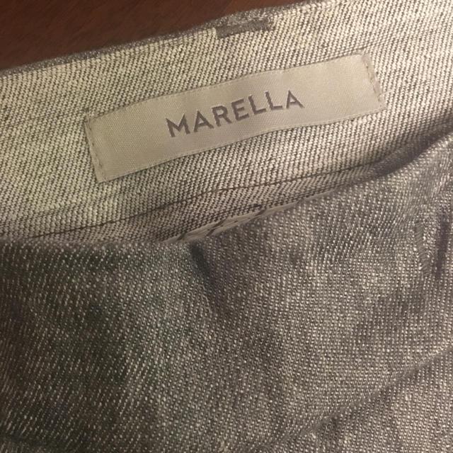 Max Mara(マックスマーラ)の超美品☆MARELLA☆高級リネンパンツ☆ライトグレー38☆theoryにも レディースのパンツ(カジュアルパンツ)の商品写真