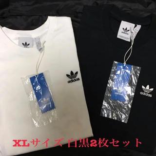 adidas - アディダス オリジナルス エッセンシャル 半袖 Tシャツ 白黒 2枚セット XL