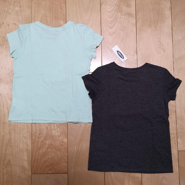 Old Navy(オールドネイビー)の【OLD NAVY】アリエルグリッターTシャツ(5T 110㎝)美品+新品の2枚 キッズ/ベビー/マタニティのキッズ服女の子用(90cm~)(Tシャツ/カットソー)の商品写真