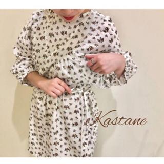 Kastane - 新品❀カスタネ花柄ブラウス