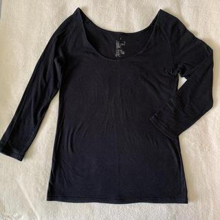 ムジルシリョウヒン(MUJI (無印良品))のMUJI インナー7分袖 襟ぐり広め(アンダーシャツ/防寒インナー)