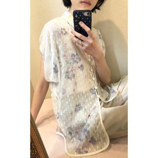 マメ(mame)の★2019ss★ mame kurogouchi ブラウス ホワイト(シャツ/ブラウス(半袖/袖なし))