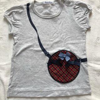 familiar - familiar チェック Tシャツ 90