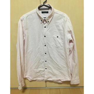 レイジブルー(RAGEBLUE)のレイジブルー  無地 薄桃 ピンク 長袖 シャツ Mサイズ(シャツ)
