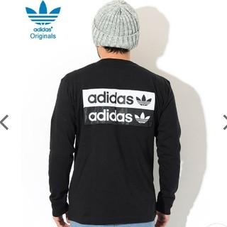 adidas - adidasoriginals バックBOXロゴロンT 長袖T✨黒ブラックM