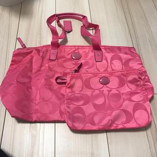 COACH - COACH美品ポーチ付きトートバッグ(折り畳み可能)