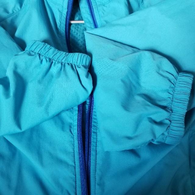 mont bell(モンベル)のmont-bell モンベル ライトシェルジャケット 100 水色 ライトブルー キッズ/ベビー/マタニティのキッズ服男の子用(90cm~)(ジャケット/上着)の商品写真