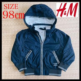 H&M - H&M 男の子 フードジャケット パーカー★98cm★フード取り外し可能◎