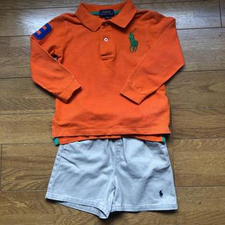 ポロラルフローレン(POLO RALPH LAUREN)のラルフローレンポロシャツ90,パンツ(80)セット(Tシャツ/カットソー)