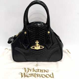 Vivienne Westwood - 美品 ヴィヴィアンウエストウッド パイソン 型押し フリル ヤスミン バッグ