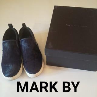 マークバイマークジェイコブス(MARC BY MARC JACOBS)のマークバイマークジェイコブ ローファー #37 濃紺(ローファー/革靴)