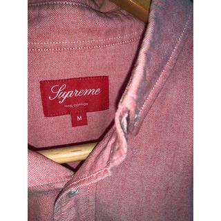 シュプリーム(Supreme)のsupreme  コットンシャツ ピンク シュプリーム  オックスフォードシャツ(シャツ)