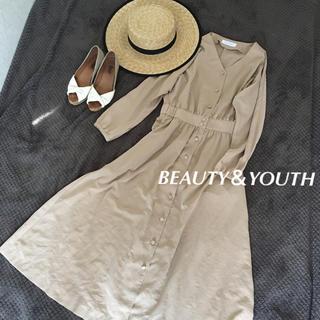 BEAUTY&YOUTH UNITED ARROWS - 美品 ビューティーアンドユース シャツワンピース ユナイテッドアローズ