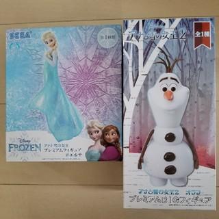 SEGA - アナと雪の女王 プレミアムフィギュア#エルサ、オラフ 2体セット アナ雪