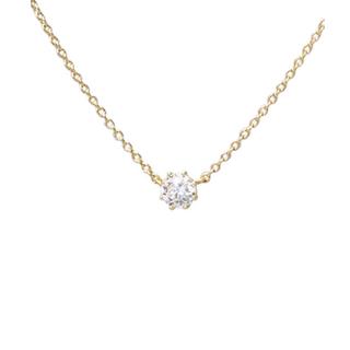 AHKAH - アーカー ソルティア ラウンド 0.15 ダイヤモンド ネックレス