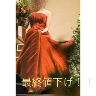 カラードレス ドレス ウェディングドレス チュールドレス