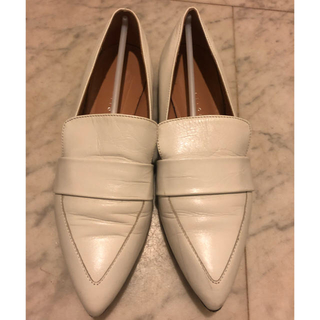 エストネーション(ESTNATION)のエストネーション estnation 白 ホワイト ローファー パンプス 35(ローファー/革靴)