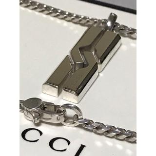 Gucci - 正規品 GUCCI グッチ ノット インフィニティ シルバー ネックレス 美品